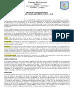 Reglamento de Convivencia Escolar FINAL 2016-2018 Y PROTOCOLOS