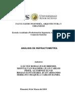 Informe de Práctica Analisis Refractometria