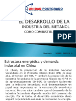 Desarrollo de La Industria Del Metanol Como Combustible en China