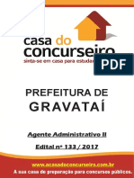 Apostila Prefeitura de Gravatai 2017 Agente Administrativo II