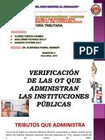 VERIFICACIÓN DE LAS OT QUE ADMINISTRAN LAS INSTITUCIONES PÚBLICAS