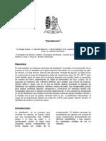 Reporte de Laboratotrio 6 DESTILACIÓN