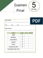 5to Grado - Examen Final (2017-2018)