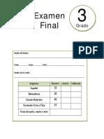 3er Grado - Examen Final (2017-2018)