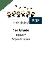 1er Grado - Bloque 5 - Sopa de Letras