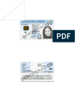 Documento de Identidad Legalizado