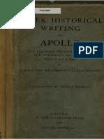 Wilamowitz - 1) Greek Historical Writings 2) Apollo