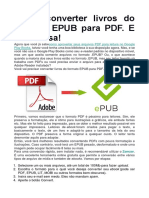 Como Converter Livros Do Formato EPUB Para PDF