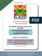 26 de Marzo Construccion Jardinera El Alto