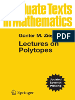 Lectures on Polytopes