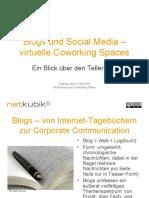 Blogs und Social Media – virtuelle Coworking Spaces