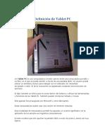 Definición de Tablet PC