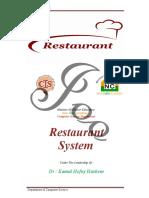 Restaurant System ( مــــطـــعـــم ســــيـــاحـــــــي ) 2