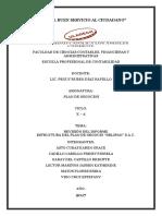 Delipan-sac Estructura Plan de Negocio