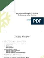 Workshop Legislatie Psihiatrie