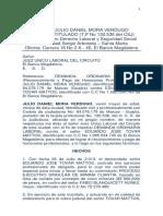 Demanda Ordinaria Contra Eduardo Tovar