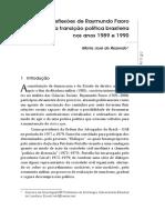 As Reflexões de Raymundo Faoro Sobre a Transição Política Brasileira Nos Anos 1989 e 1990