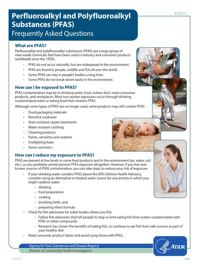ATSDR Pfas Fact Sheet | Determinants Of Health | Wellness
