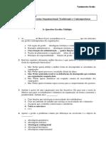 2013 2014 FG ISG P3 Teorias Organizacionais Trad Cont Final Solucoes
