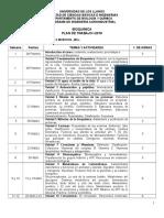 Plan de Trabajo BQ-Agroindustria 2018-I