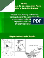Acceso Tierra Territo Aprovecha Sosteni-ACRA-Bolivia