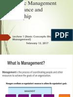 Strategic Management & Leadership - 01
