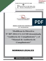 Modifican Directiva y Manual MAC RC 136-2018-CG 2MAY18