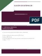 Métodos de Solución de Sistemas de Ecuaciones3UNIDAD