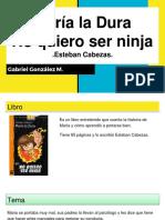 María La Dura No Quiero Ser Ninja - Resumen