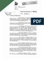Resolución Ministerial, la 090/2018