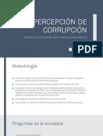 Percepciones de Corrupción y Gobierno - Enero a Marzo 2017