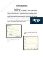 Curva de Congelacion de Agua y Soluciones Binarias