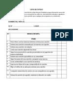 Instrumento - Lista de Cotejo