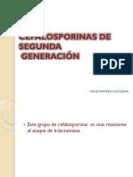 CEFALOSPORINAS SEGUNDA GENERACION