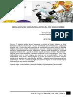 SECULARIZAÇÃO E ENSINO RELIGIOSO NA PÓS MODERNIDADE - Robson Stigar