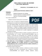 Denuncia Por Inaccion de Invasion a Torrentera. (1)