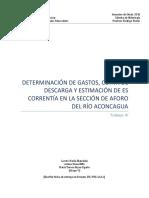 Análisis de consistencia y frecuencia para la cuenca de Aconcagua