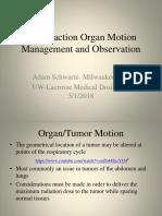 inter-fraction organ motion management