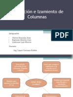 Colocación e Izamiento de Columnas