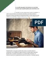 Escribir en un blog con un estilo que guste a los lectores no es una tarea fácil.docx