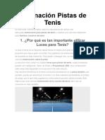 Iluminación Pistas de Tenis