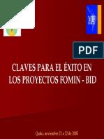 Claves Para El Éxito en Los Proyectos FOMIN-BID