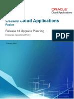 Upgrade Planning R13 Enterprise