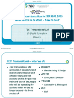 Wednesday - Forum 1 - 15.45-16.00 - David Scrimshire - TEC Transnational