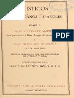 De MADRID y OSUNA. Místicos Franciscanos Españoles (Tomo I), BAC, 1947