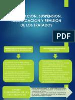 Terminacion, Suspension, Modificacion y Revision