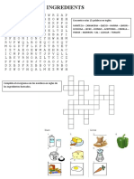 INGREDIENTS Crossword and Wordsearch