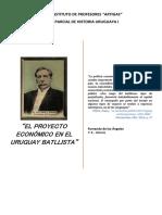 Historia Uruguaya. La Política Económica Del Batllismo