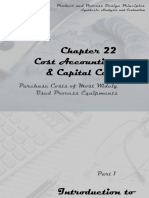 Cost Accounting and Capital Cost Purchasing Costs