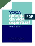 Besant, Annie - Yoga Ciência Da Vida Espiritual